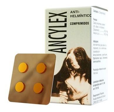 Imagem 1 de 5 de Ancylex Comprimido - Vermífugo Oral Para Cães