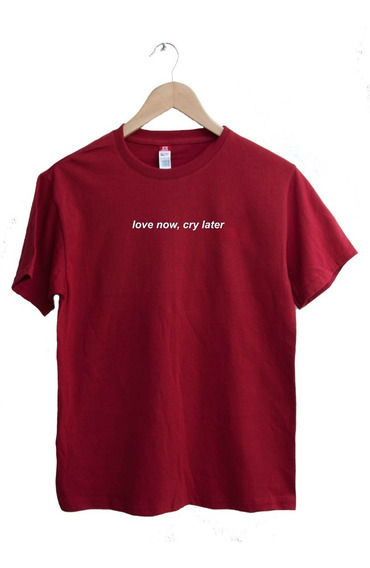 Playera Masculina Grunge/aesthetic Love Now, Cry Later