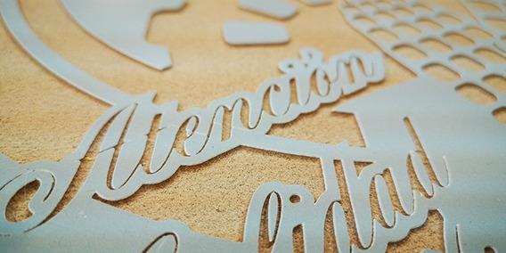 Azulejo Letrero, Ceramica, Señalizacion Sand Blast,