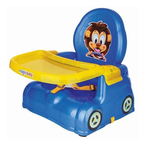 Imagem 1 de 6 de Cadeira Refeição Portátil Papinha Azul/rosa Magic Toys