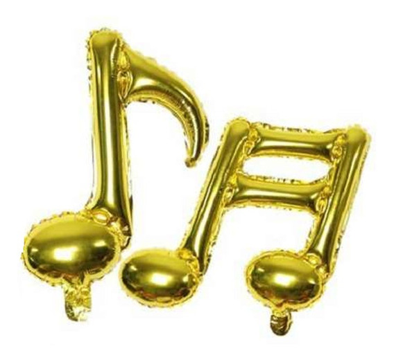 10 Globos Notas Musicales 45cm Musica Corchea Zona Oeste