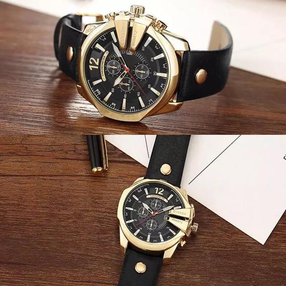 2 Relógios Curren Original Marca De Luxo Esporte Militar