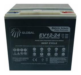 Bateria Gel Global 12v 24ah Ciclo Profundo 6-dzm-20 Ev12-24