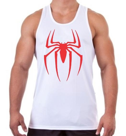 Regata Homem Aranha Masculina Para Treino De Academia