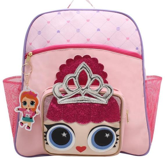 Mochila Infantil Escolar Lol Princesa Coroa Lorena Queiroz