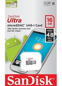 Cartão Memoria Microsd 16gb Sandisk S3 S4 S5 J3 J5 J7