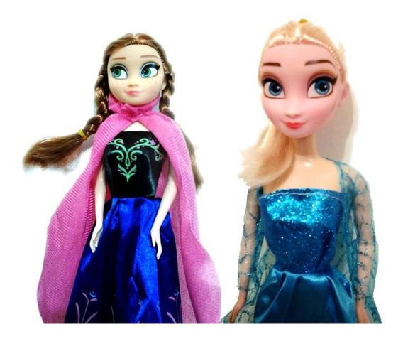 Bonecas Frozen Ana E Elsa Musical 2 Unidades Tamanho 30cm