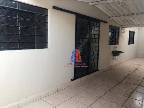 Imagem 1 de 10 de Casa Com 1 Dormitório Para Alugar, 46 M² Por R$ 800/mês - Vila Bertini - Americana/sp - Ca1637