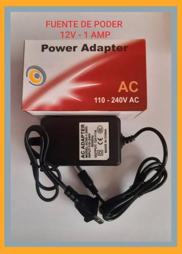 Adaptador Fuente De Poder 12v 1 Amp, Para Camaras