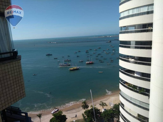 Flat Na Beira Mar Projetado Top Top Top - Fl0003