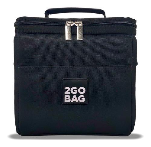 Imagem 1 de 7 de Bolsa Mochilinha Térmica Lanches Potes Fit 2gobag Mini Black