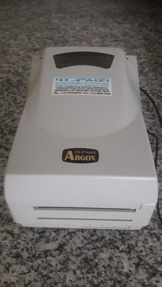 Impressora Argox Os-214 Plus Térmica Etiqueta Ribbon Usada