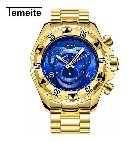 Relógio Temeite Masculino Luxo 100% Original Pronta Entrega