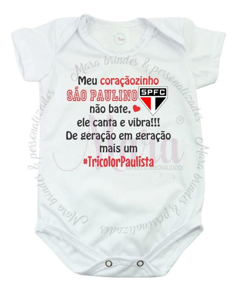 Bodies Personalizado Meu Coraçãozinho São Paulino 02