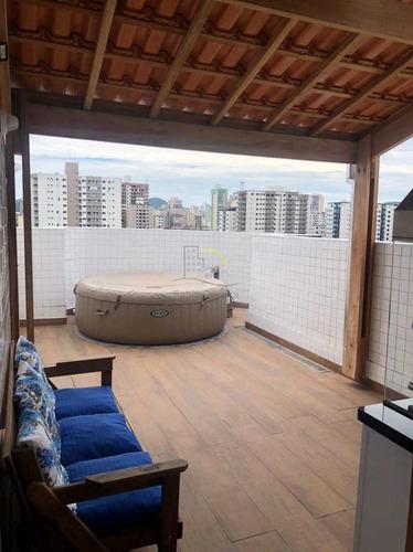 Cobertura Com 3 Dorms, Guilhermina, Praia Grande - R$ 650 Mil, Cod: 3137 - V3137