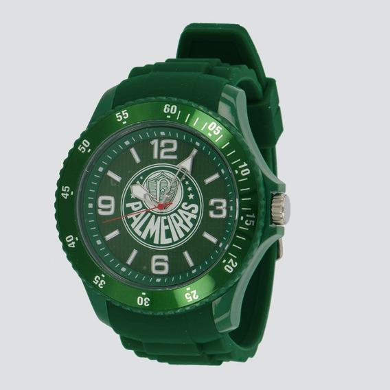 Relógio Bel Watch Palmeiras Logo Verde E Branco