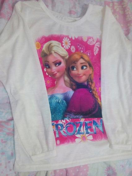 Camisetinha Manga Longa Frozen 2 Disnep Disney M 4/5/6 Anos
