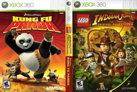 Lego Indiana Jones + Kung Fu Panda - Xbox 360 - Midia Fisica