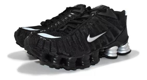 Tenis Masculino Nike Shox 12 Molas Original Preto