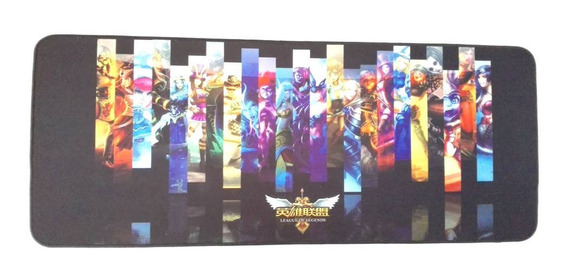 Mouse Pad Teclado League Of Legends Gamer Gaming 75cm X 30cm