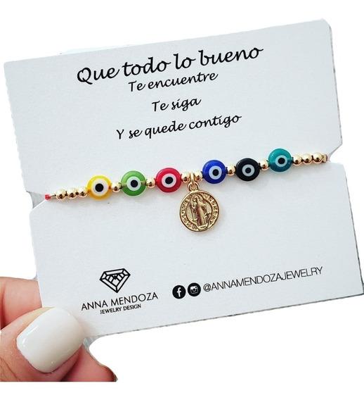 Pulsera Hilo Rojo Ojitos Ojo Turco San Benito + Envio Gratis