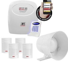 Kit Alarme Residencial Comercial Acionamento Pelo Celular