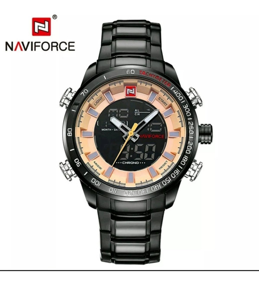 Relógio Masculino Naviforce 9093 Analógico E Digital Luxo