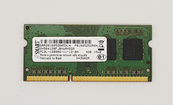 Memoria P/ Notebook Ddr3 - 4gb Pc3l-12800s - Smart