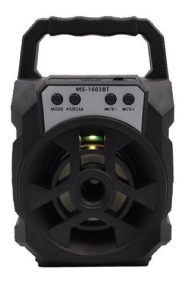 Caixa De Som Portátil Amplificadora Mp3 Radio Fm Super Alta