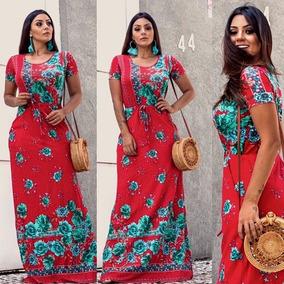 Vestido Longo Evangelicas Manguinha Verao Tendencia 2019