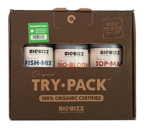 Imagem 1 de 8 de Fert Orgânico Trypack Outdoor 3em1 Fishmix Topmax Biobloom