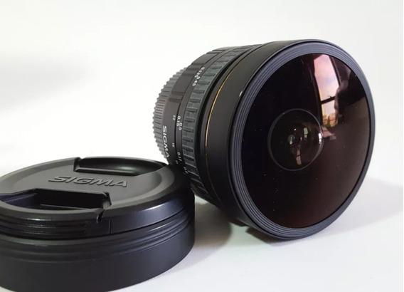 Lente Sigma 8mm Ex Dg 3.5 - P/ Nikon - Impecável