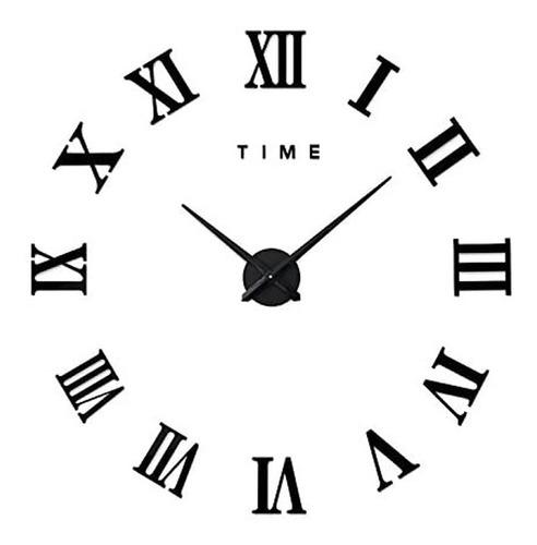 Imagen 1 de 10 de Reloj De Pared 3d Moderno Grande Adhesivo Diy De Acrílico