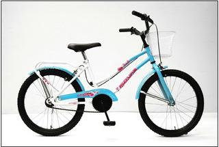 Bicicleta Futura R 20 Dama De Lujo Con Canasto