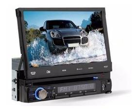 Dvd Para Carro 7 Pol Tela Retrátil Bluetooth Roadstar 7925
