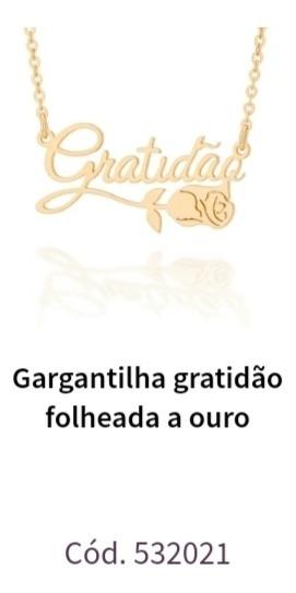 Gargantilha Gratidão Rommanel
