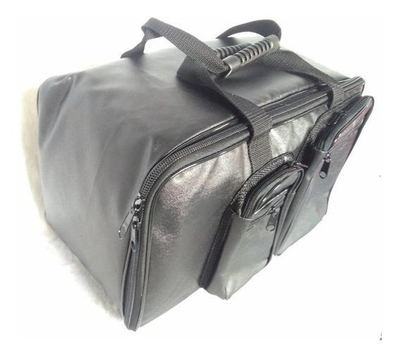 Semicase Capa Bag Pedal Duplo Bumbo Mapex Couro Safira