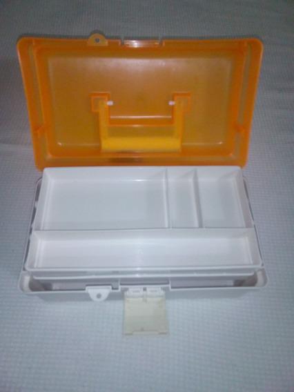 Caja Organizadora De Maquillaje O Pedicure. 10 Verdes.