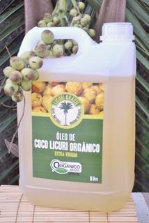 Óleo Coco Licuri Extra Virgem Organico 5 Lts