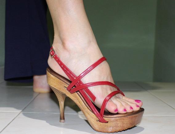 Sandália Salto Troca As Tiras
