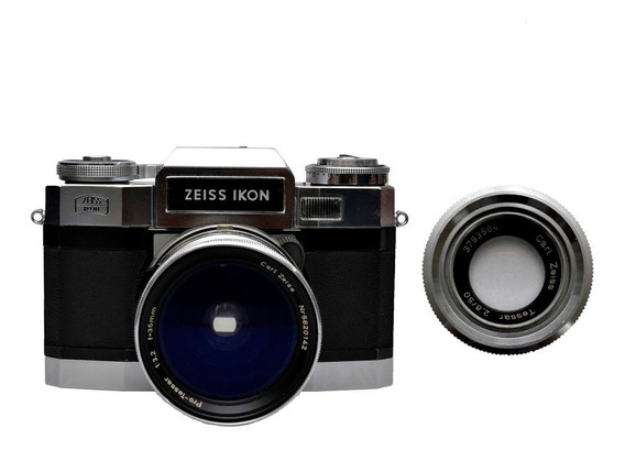 Câmera Zeiss Ikon Contaflex Matic Com Tessar 35mm F/3.2 + Te