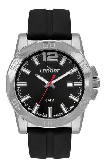 Relógio Condor Masculino Co2415bn/2p Silicone Preto