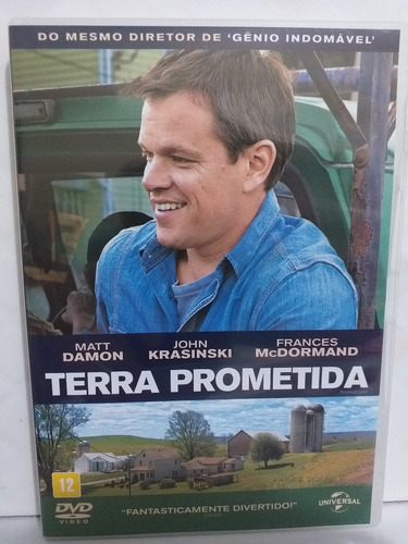 Dvd Terra Prometida Matt Damon Filme Original   Mercado Livre