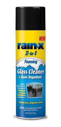 Imagen 1 de 8 de Limpiador Y Repelente De Agua Vidrios  Auto Rain X Aerosol