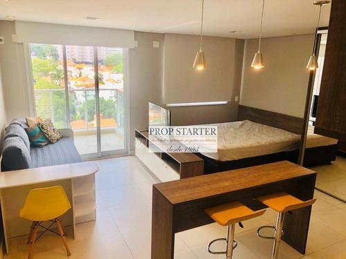 Imagem 1 de 27 de Loft Com 1 Dormitório Para Alugar, 42 M² Por R$ 3.000/mês - Paraíso - São Paulo/sp - Propstarter - Lf0017