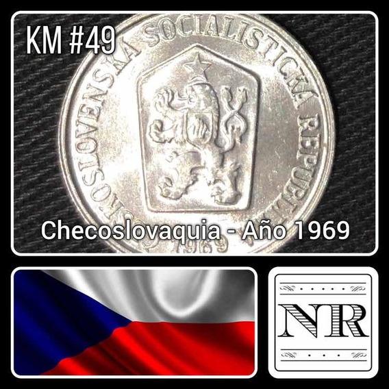 Checoslovaquia - 10 Haleru - Año 1969 - Km # 49 - Escudo.