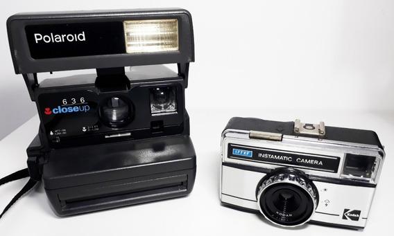 Lote Câmeras Polaroid 636 Closeup + Kodak Instamatic 177x-f1