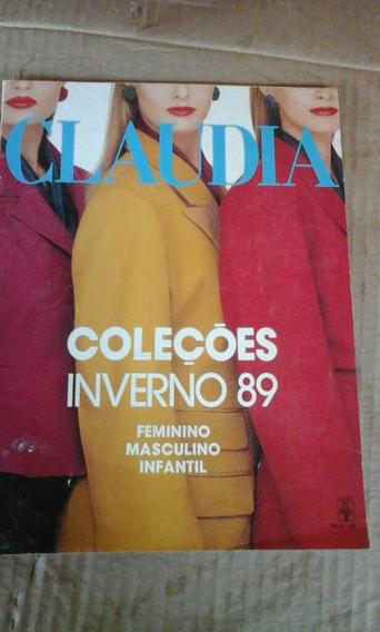 Revista Claudia Coleções Inverno 89 N 331 Feminino Mascu