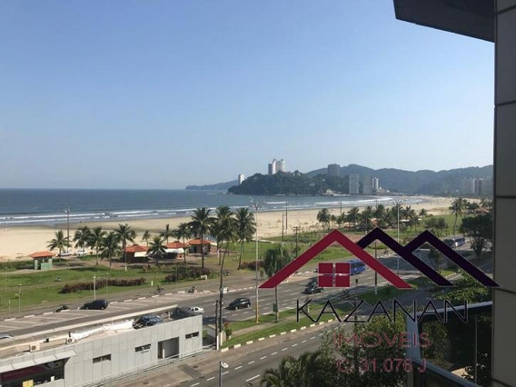 Flat, Vista 180º Do Mar! 01 Dorm, 01 Vaga, Porteira Fechada! - 1870