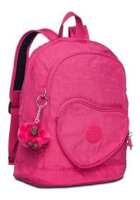 Mochila Infantil Heart Backpack Rosa Cerise Pink Kipling
